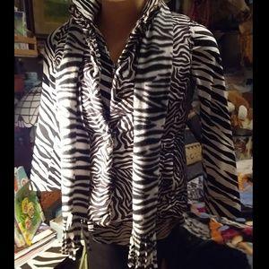 A zebra print scarf